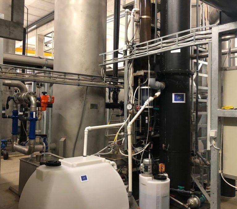 Puesta en marcha la planta piloto en la planta de tratamiento de aguas potables de Viimsi (Estonia)